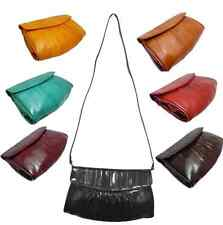 Genuine Eel skin Leather  Shoulder bag HANDBAG CLUTCH bag Wallet Purse 7 Colors