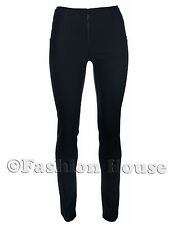 S3 Miss Chief Ladies Girls Black Grey Work School Trousers Stretch Hipsters