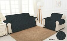 QUILTED SOFA SLIP COVERS Jacquard 1,2,3 Seater Sofa Cover Pet Protector Throw