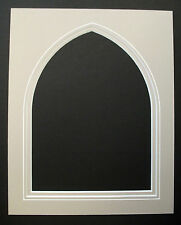 Double Picture Mounts - Gothic Arch with V-Groove - Various Sizes/Colours