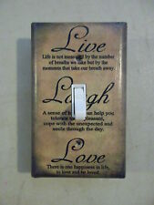 LIVE LAUGH LOVE CUSTOM LIGHT SWITCH PLATE COVER Home Decor