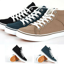 Classic Canvas Lace Up Shoes Sneakers Mid Top Zip  Lycos 3 Colors