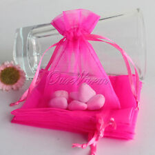 "50 Strong Organza Pouch 3x3.5"" 7x9cm Wedding Favor Jewelry Gift Candy Bag Colors"