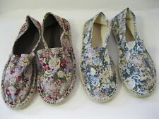LADIES EXPADRILLS FLORAL PRINT CANVAS SHOES  STYLE - F 2189