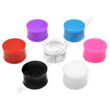 ACRYLIC DOUBLE FLARE EAR PLUG STRETCHER EXPANDER FLESH TUNNEL TAPER