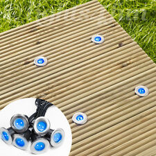 6 Solar Power LED Stainless Steel Decking Deck Outdoor Garden Path Lights