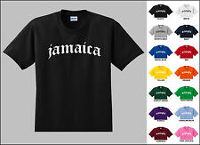 Country of Jamaica Old English Font Vintage Style Letters T-shirt