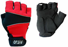 RED GEL PADDED WEIGHT LIFTING / GYM GLOVES S, M OR XL
