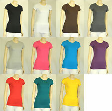 PLUS SIZE Crew/Round Neck Short Sleeve Solid Cotton T-shirt Top 1XL-3XL