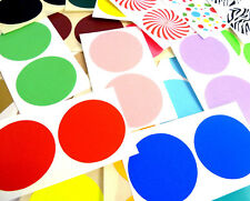50mm Round Colour Code dot Stickers Coloured Circles Sticky Adhesive spot Labels