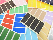 50x20mm Rectangle Colour Code Stickers Coloured Sticky Self-Adhesive Labels