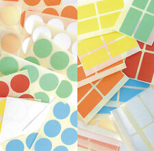 Mixed Removable Low Tack Adhesive Colour Code Stickers Coloured Sticky Labels