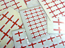 England Flag Stickers English St George Cross Labels - Various Shapes & Sizes