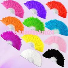 11 Colors Elegant Large Feather Folding Hand Fan For Wedding