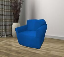 BLUE JERSEY CHAIR STRETCH SLIPCOVER, COUCH COVER, FURNITURE SOFA FREE SHIPPING