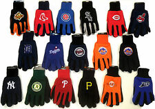 NWT MLB No Slip Utility Work Gloves With 3D Team Logo Baseball FREE SHIPPING NEW