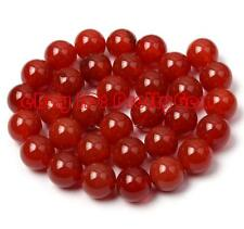 20mm 18mm 16mm 14mm 12mm 8mm 6mm 4mm Round Red Agate Gemstone Beads Strand 15""