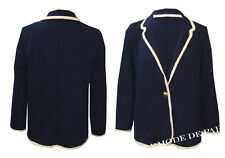 B25 NEW WOMENS ONE BUTTON TWO PACKET LADIES LONG SLEEVE PONTE BLAZER JACKET COAT