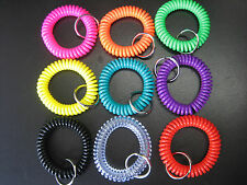 Lot of 50 Spiral Wrist Coil Key Chains / High Quality / New in Sealed Bag