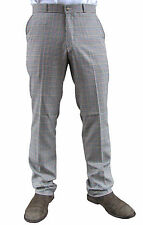 Mens Heritage Tweed Sta Prest Stay Pressed Retro Check MOD Golf Trouser