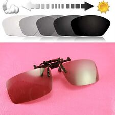 Polarized lens Clip on flip up Photochromic reactolight sunglass eyeglass glass