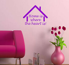 HOME IS WHERE THE HEART IS Quote sticker decal vinyl wall art decoration HH4