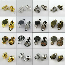 20Pcs Clip On Earring Earwire,Flat/Round Ball Pad Gold,Silver,Bronze ect. R344