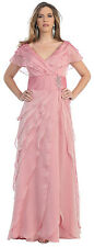 Modest Mother of Bride/Groom Long Formal Gown Bridesmaids Special Event Dresses