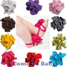 Newborn Infant Barefoot Ring Sandals Shoes Flower Feet Toes Blooms 0-12m