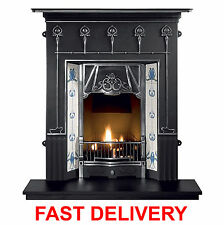 NEW GALLERY AMSTERDAM CAST IRON COMBINATION FIREPLACE *FREE DELIVERY IN MAIN UK*
