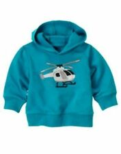 NWT Gymboree Spy Guys Hoodie 3 6 12 24 2T 3T Blue Helicopter Hooded Sweat Shirt
