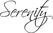 Serenity vinyl wall decal quote sticker decor Inspirational Word Saying Cute