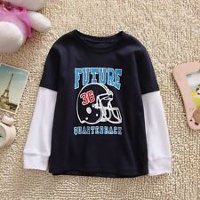 BNWT 100% Cotton Jumping Beans long sleeve top T-shirt Tee for baby toddler boys