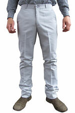 Mens Light Grey Sta Prest Stay Pressed Retro MOD Trouser Vintage Style