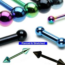 Solido TITANIO BARBELLS in 1,2 mm o 1,6 mm sagome e lunghezze da 8mm a 16mm