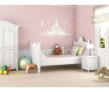★ PERSONALISED PRINCESS CASTLE ★ Wall Art Sticker Decal Mural ★ Multiple Colours