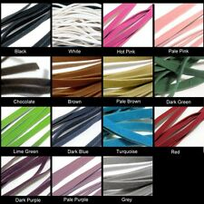 10 Mtrs 3mm , 5mm Faux Suede Flat Cords - Various Colour
