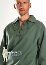 GENTS' SCOTTISH DELUXE GHILLIE SHIRT - JACOBEAN STYLE - ANTIQUE GREEN