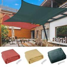 18' x18' Deluxe Square Sun Shade Sail UV Top Cover Outdoor Canopy Patio Lawn Opt