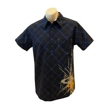 OAKLEY MENS DRESS CASUAL SHIRT BURST NAVY BLUE  SIZE  S  or  M  RRP$ 79 NEW