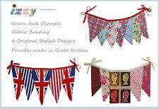 SHABBY COUNTRY VINTAGE CHIC UNION JACK THE OLYMPICS TEA PARTY FABRIC BUNTING