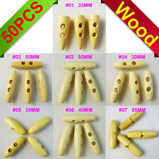 charms painting wood toggle horn sewing button clothes accessory tip WHB-049