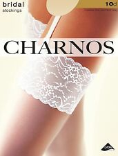 Lace Top Bridal Stockings from Charnos Hosiery - Ivory, Champagne/Ivory