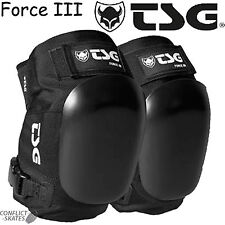 "TSG Force III ""Old School"" Ramp Knee Pads Skateboard Black Roller Derby Vert"