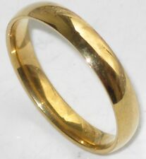 his OR hers PLAIN WEDDING RING BAND str191 4MM