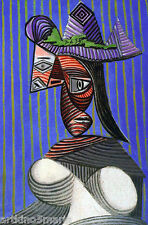 PABLO PICASSO THE BUST OF WOMAN CUBISM SURREALISM ART GICLEE PRINT FINE CANVAS