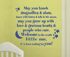 Wall Decal Quote Sticker Vinyl Lettering Welcome to the World Baby Nursery B19