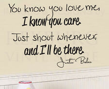 Wall Decal Quote Sticker Vinyl Art Lettering Decorative Justin Bieber Baby G10