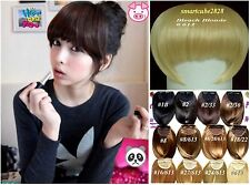 *12 Colors Bangs Fringe Clip in Hair Piece Extension (Black Brown Blonde Mix 613