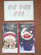 CHRISTMAS CARD DAUGHTER AND FAMILY BOYFRIEND FIANCE  TATTY TEDDY ME TO YOU